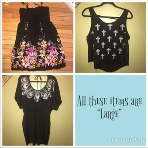 Other - Size L/XL Women's Clothing Lot (Pre-owned) 12 Pcs